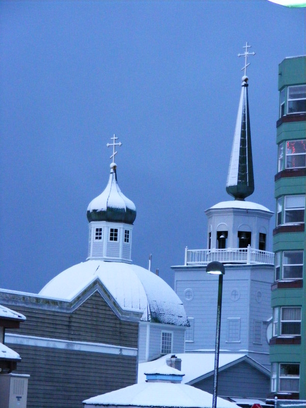 Sitka St Michael's in winter