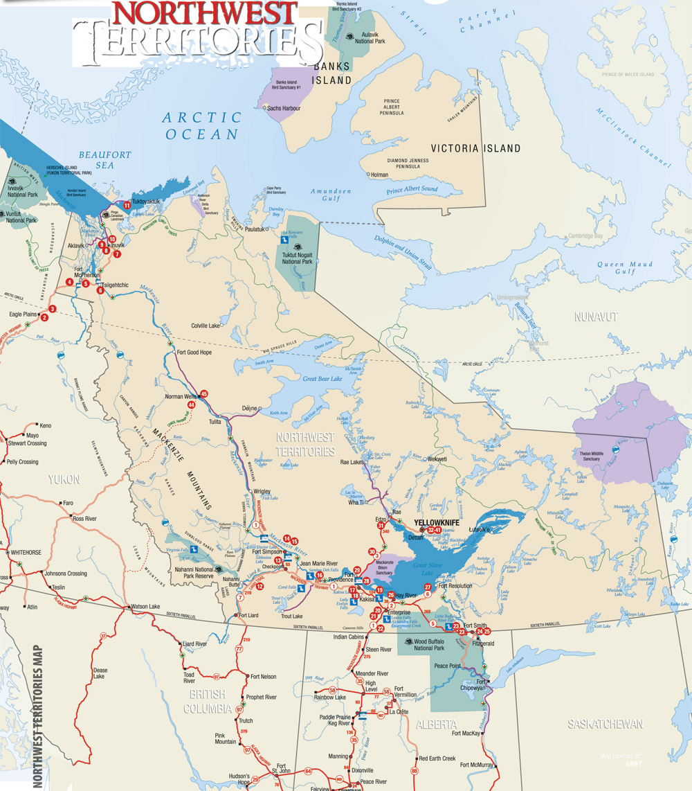 NW TERRITORIES Travel Guide